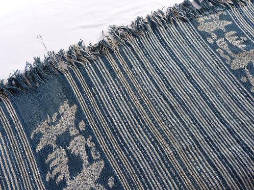 Handspun Handwoven Blue Tais, Timor-Leste 175cm