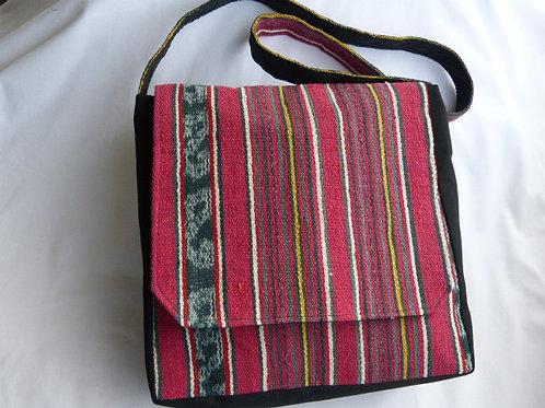 Handspun Cotton Tais Satchel, Timor-Leste 30cm