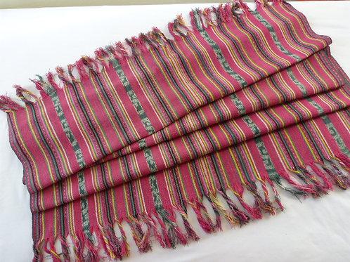 Handspun Handwoven Pink Tais, Timor-Leste 175cm