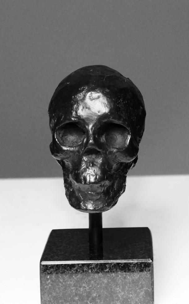 Bronze Skull, black patina.
