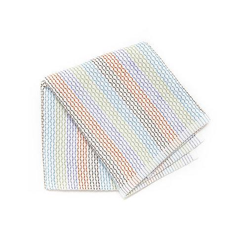 Full Circle Tidy 100%有機棉吸水耐用抹布洗碗布彩色(三件)