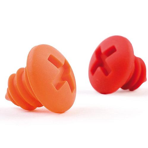 OTOTO BOTTLE SCREWS 矽膠螺絲酒塞 - 紅色 & 橙色