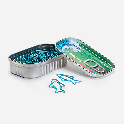 OTOTO SARDINE PAPER CLIPS 沙甸魚萬字夾連收納盒