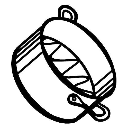 Peleg Design Sketch Trivet 矽膠隔熱墊 - 蒸煮鍋款