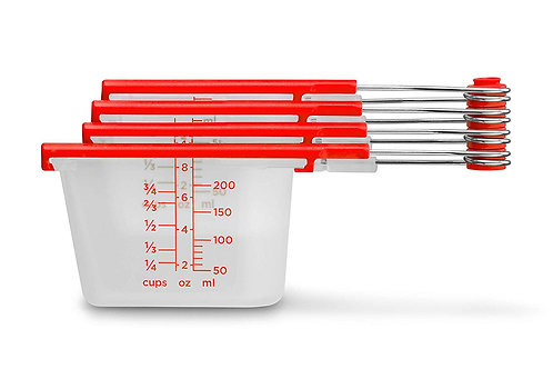 Dreamfarm Levups 精準聰明刮板量杯紅色/透明