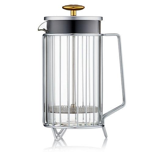 Barista & Co 環形法式咖啡濾壓壺不銹鋼色(8 Cup / 3 Mug / 1000ml)