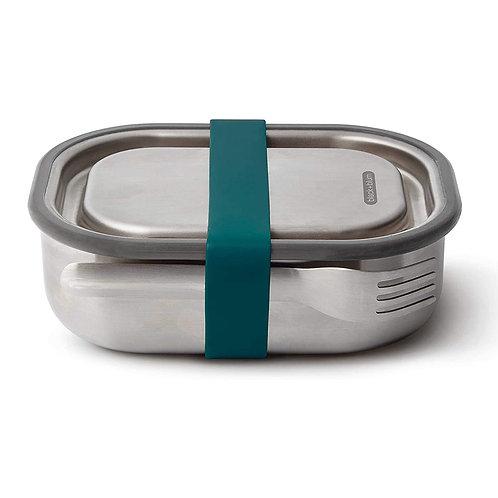 black+blum 不鏽鋼防漏食物盒連餐具組 600ml - 海洋藍
