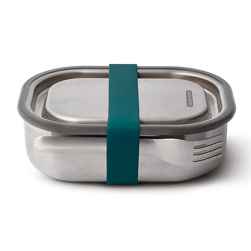 black+blum 不鏽鋼防漏食物盒連餐具組 1000ml - 海洋藍