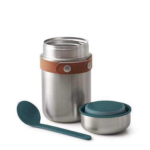 black+blum 不鏽鋼真空保溫保冷燜燒罐食物罐連湯匙 400ml - 海洋藍