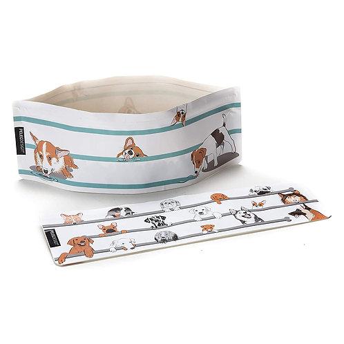 Peleg Design Wuff'n'Go 便攜式可折疊狗碗套裝(一組兩件)
