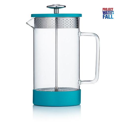 Barista & Co 咖啡法式濾壓壺 1000ml - 湖水藍