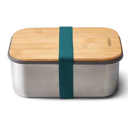 black+blum 不鏽鋼天然竹蓋食物盒 1.25L - 海洋藍