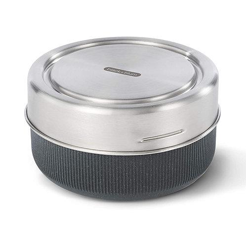 black+blum 玻璃食物盒連不銹鋼蓋 750ml 岩灰色(微波爐適用)