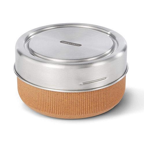 black+blum 玻璃食物盒連不銹鋼蓋 750ml 杏仁色(微波爐適用)