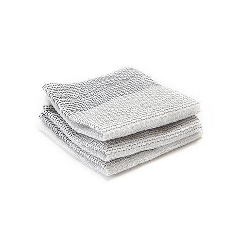 Full Circle Tidy 100%有機棉吸水耐用抹布洗碗布灰色(三件)