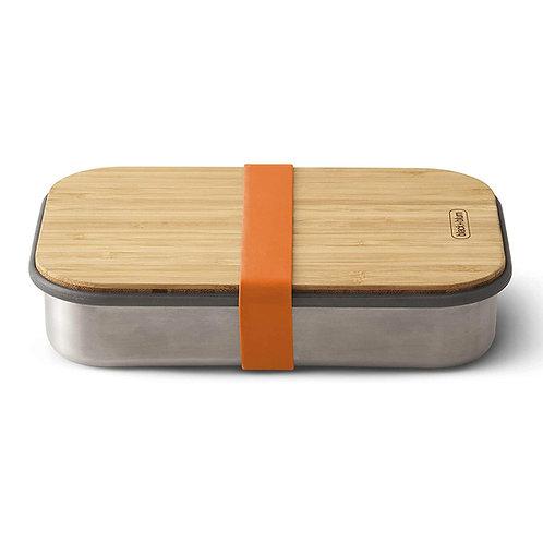 black+blum 不鏽鋼天然竹蓋食物盒 900ml - 熱情橘