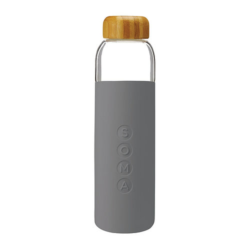 SOMA 竹蓋玻璃水樽 500ml - 灰色
