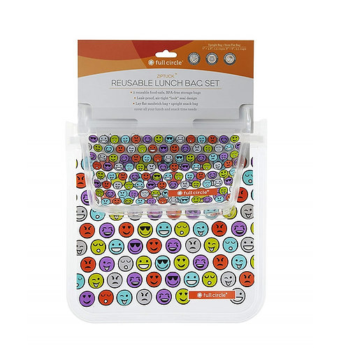Full Circle ZipTuck 環保密實萬用袋(Emoji 表情符號)