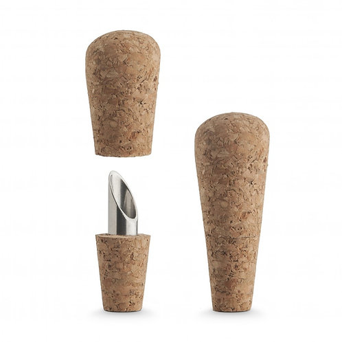 Final Touch 2合1葡萄牙進口軟木酒塞和酒嘴(2件裝)