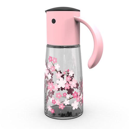 Cuisipro 自動開合玻璃油壺 300ml - 櫻花粉紅