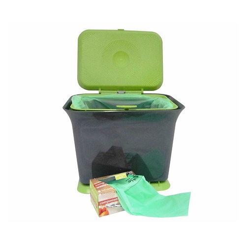 Full Circle Fresh Air 廚房防異味可堆肥廚餘收集垃圾桶(灰色 / 綠色)