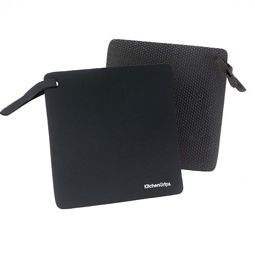 KitchenGrips FLXaPrene 防滑隔熱墊 - 黑色(2件裝)