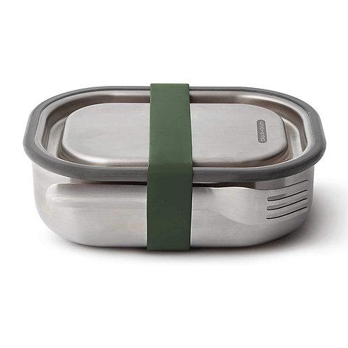 black+blum 不鏽鋼防漏食物盒連餐具組 1000ml - 橄欖綠