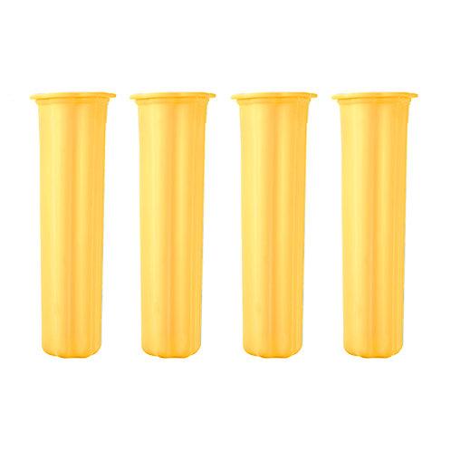 Dr. Cook 矽膠唧唧冰雪條模 125ml - 黃色(4件裝)