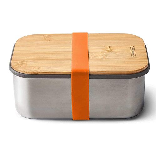 black+blum 不鏽鋼天然竹蓋食物盒 1.25L - 熱情橘