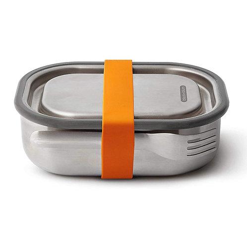 black+blum 不鏽鋼防漏食物盒連餐具組 1000ml - 熱情橘