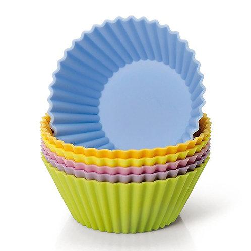 Dr. Cook 矽膠鬆餅烘焙杯(12個裝) - 隨機顏色