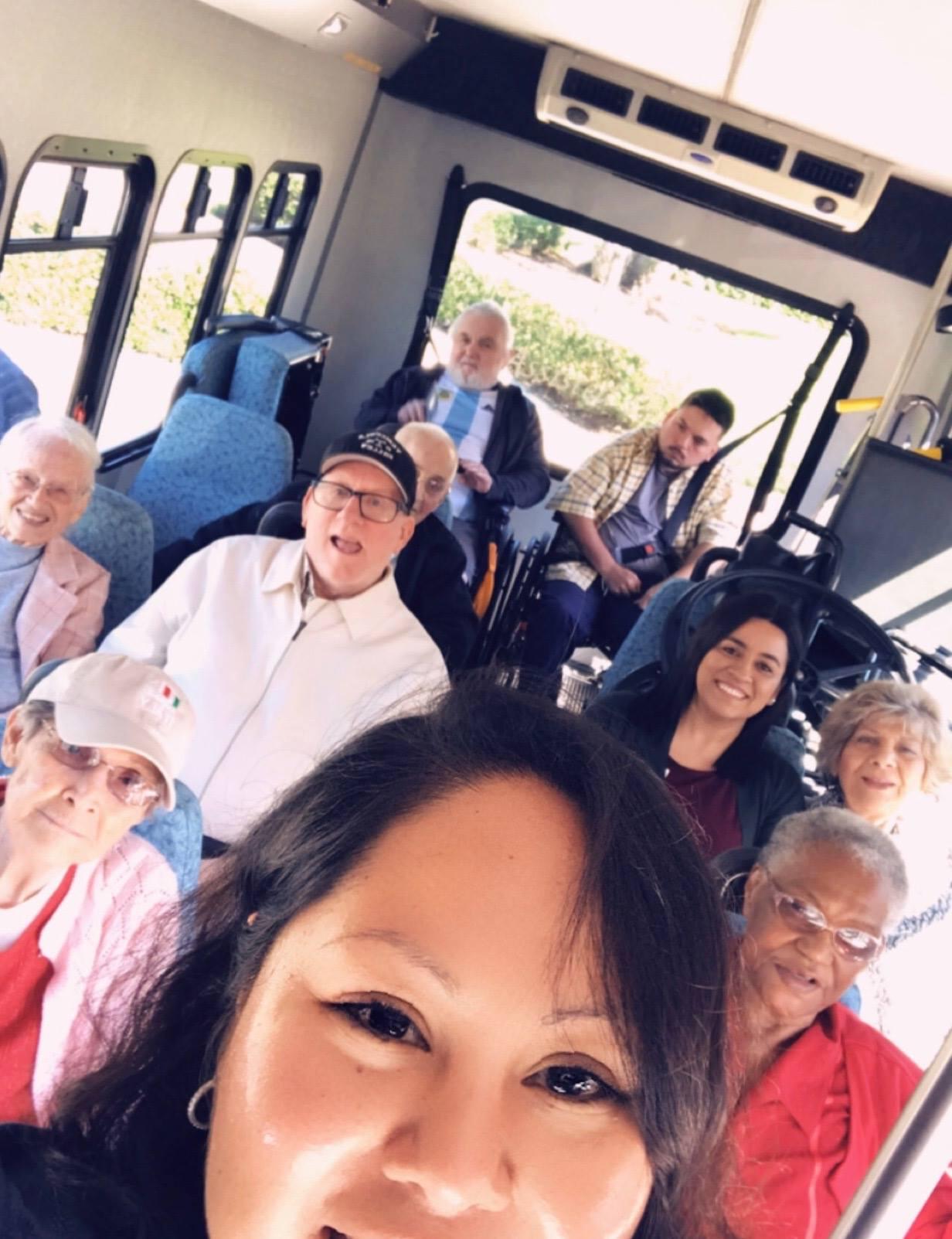 In the Pelican Garden Bus