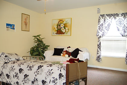 Large private rooms are available at Rosewood Manor assisted living facility