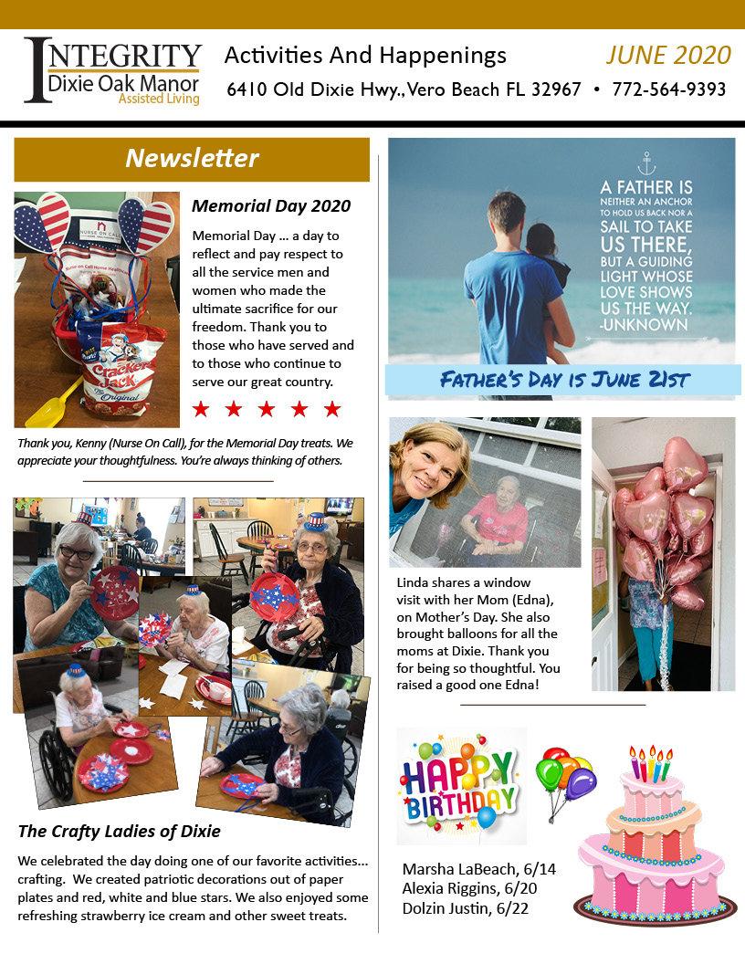 Dixie Oak Newsletter