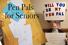 Pen Pals for Seniors is a great way to keep our residents engaged in social activites