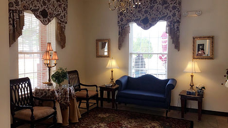 We have a lovely sitting area for residents to socialize