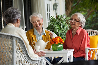 Residents sharing during daily activites