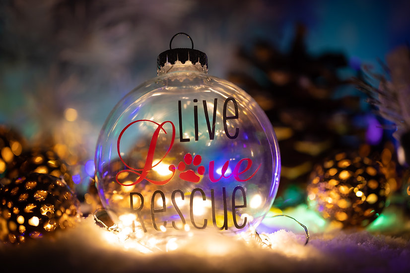 Christmas Ornament - Live Love Rescue