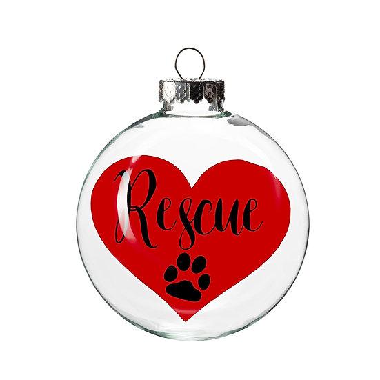 Ornament - Rescue Heart
