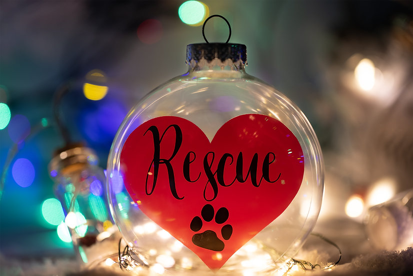 Christmas Ornament - Rescue Heart