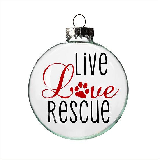 Ornament - Live Love Rescue