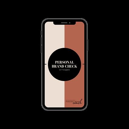 telefoon personal brand check met logo.p
