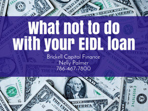 What not to do with your EIDL loan