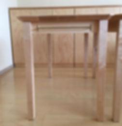 オーダー家具,ローテーブル,オーク,インダストリアル,キャスター