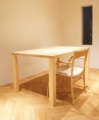 オーダー家具、ダイニングテーブル、無垢