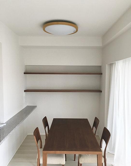 オーダー家具,作り付け棚,棚板,収納棚,ダイニング,東京,世田谷