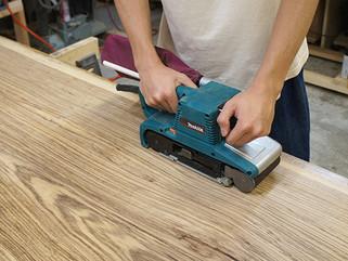 無垢板の削り直し