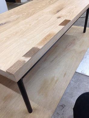 オーダー家具,無垢,テーブル,天板,再塗装