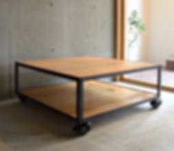 オーダー家具,ローテーブル,オーク,天板,オーダー家具