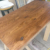 オーダー家具,無垢,テーブル,再塗装,リメイク